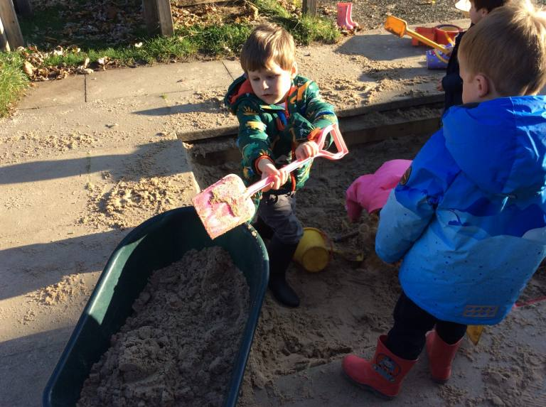 digging in sand pit
